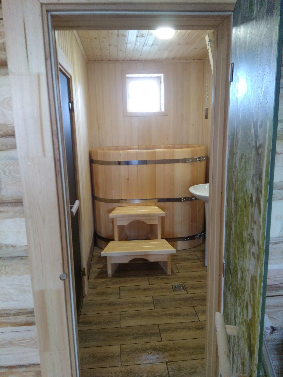 Внутренняя отделка рубленной бани