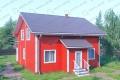 Дом из бруса. Проект Б-12