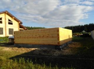 Этапы строительства бани из профилированного бруса