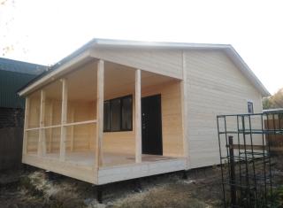 Строительство каркасной бани. СНТ Орджоникидзе-8. Кольчугинский район