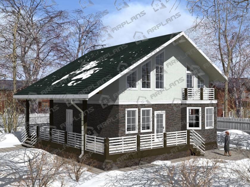 Каркасный дом. Проект К-18