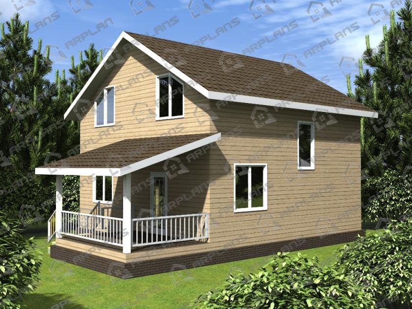 Каркасный дом. Проект К-15