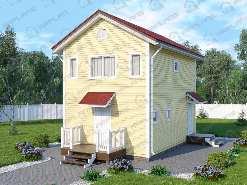 Каркасный дом. Проект К-5