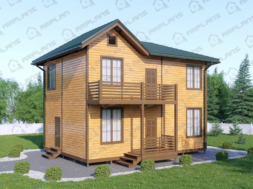 Каркасный дом. Проект К-16