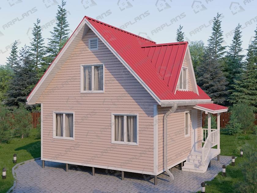 Каркасный дом. Проект К-11