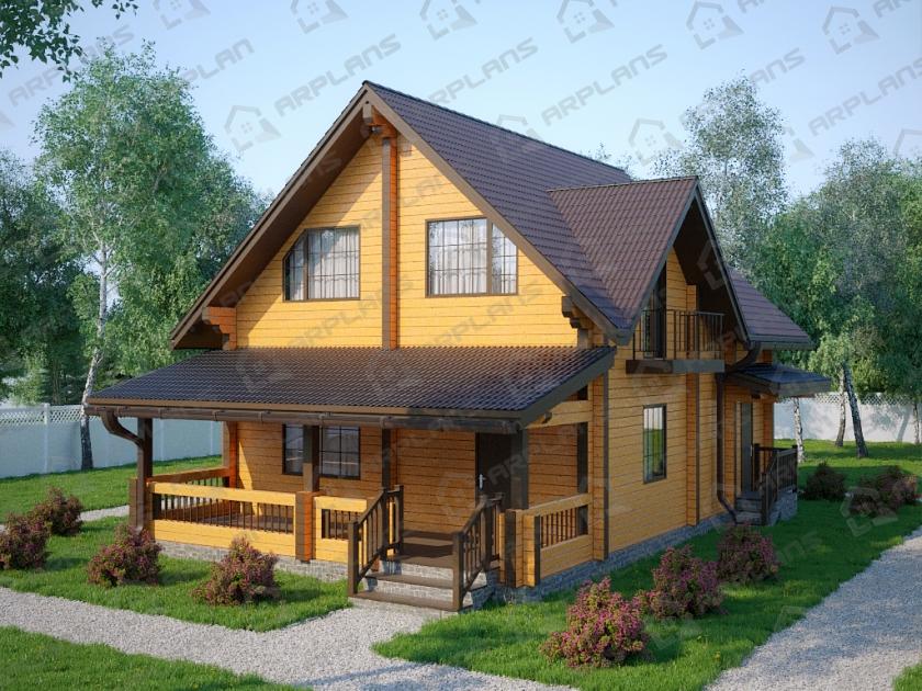 Дом из бруса. Проект Б-1