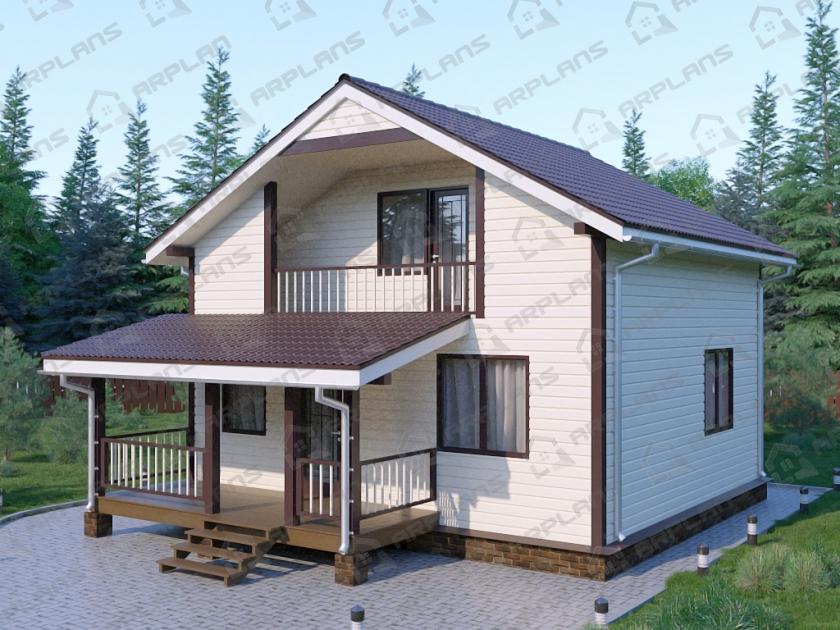 Каркасный дом. Проект К-10