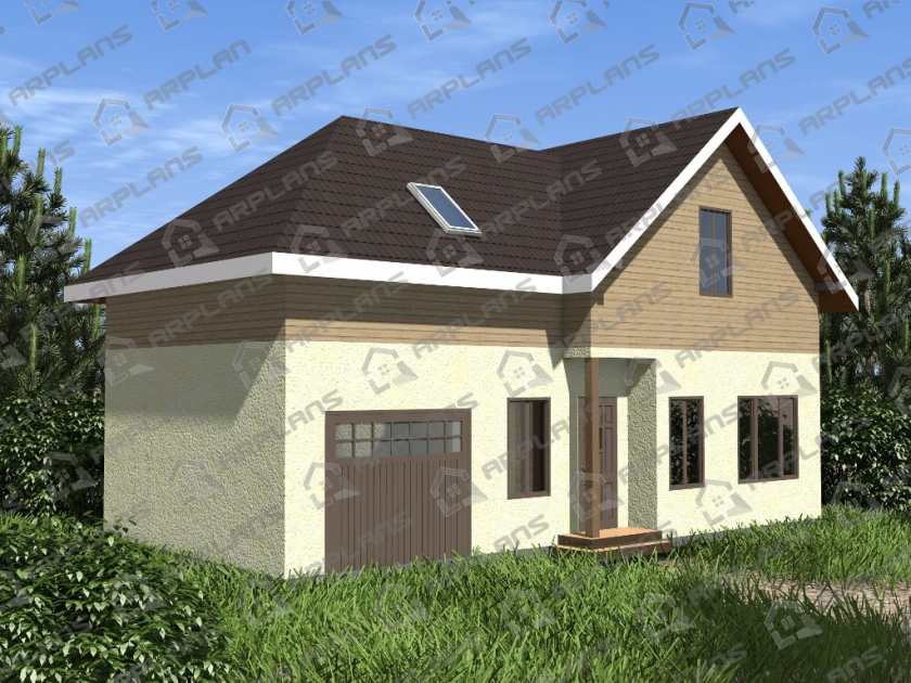 Каркасный дом. Проект К-17