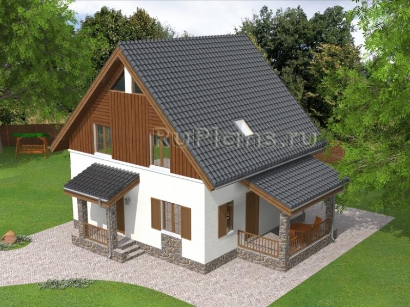 Каркасный дом. Проект К-26