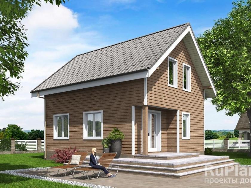 Каркасный дом. Проект К-32