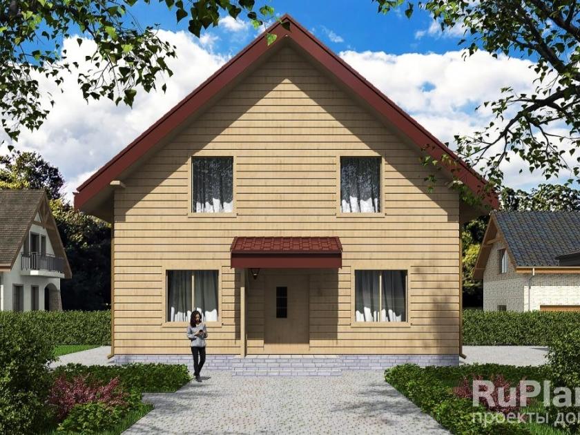 Каркасный дом. Проект К-35