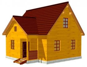 Проект дачного дома №35