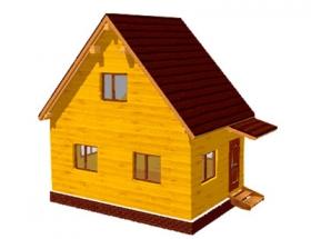 Проект дачного дома №4
