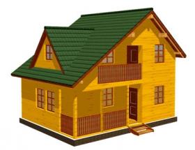 Проект дачного дома №43