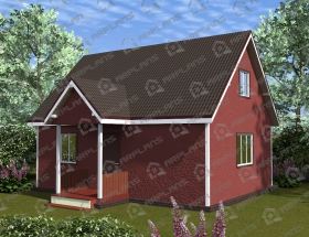 Каркасный дом. Проект К-12
