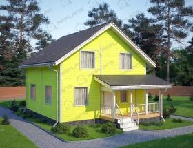 Дом из бруса. Проект Б-19