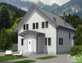 Каркасный дом. Проект К-34