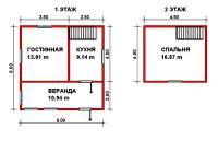 Проект дачного дома №10