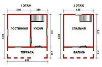 Проект дачного дома №12