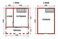 Проект дачного дома №14