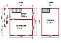 Проект дачного дома №17