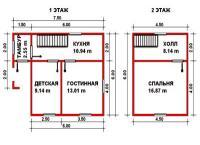 Проект дачного дома №19