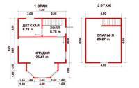 Проект дачного дома №20