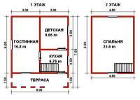 Проект дачного дома №22