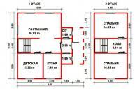 Проект дачного дома №32