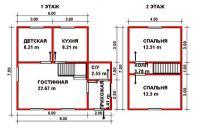 Проект дачного дома №34