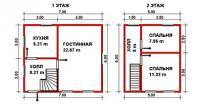 Проект дачного дома №37