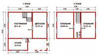 Проект дачного дома №45
